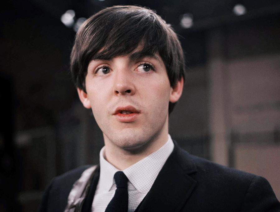 Paul McCartney 21 Years Old On The Set Of Ed Sullivan Show With Beatles February 9 1964