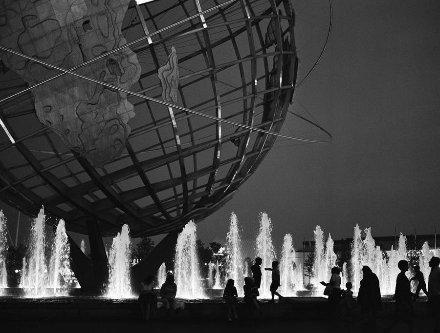 This outline of black and white gives strollers at the 1964 new york
