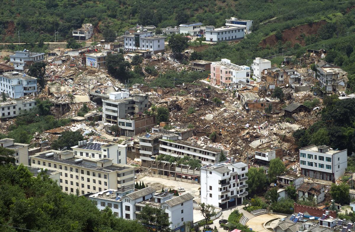 Image result for 2014 Ludian earthquake