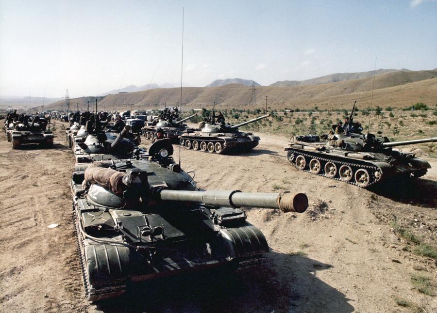 Image result for Soviet tanks Afghanistan 1979 images