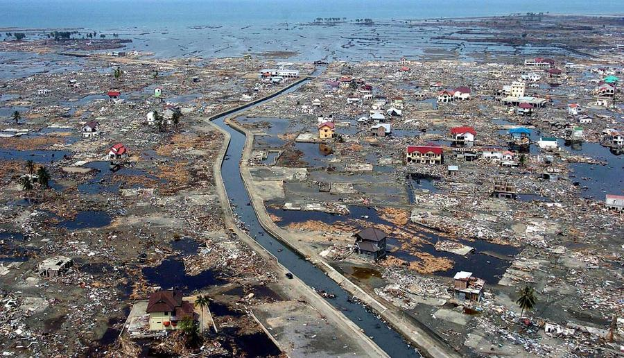 ten years since the n ocean tsunami the atlantic  the devastated district of banda aceh in aceh province located on s sumatra island in the aftermath of the massive 26 2004 tsunami