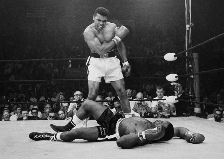 Years Ago  A Look Back at        The Atlantic The Atlantic The heavyweight champion Muhammad Ali stands over the fallen challenger Sonny Liston  shouting and gesturing shortly after dropping Liston with a short hard