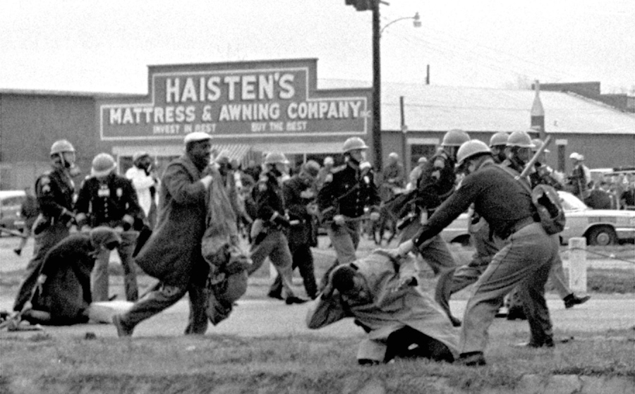 State Troopers Swing Billy Clubs To Break Up A Civil Rights Voting March In Selma Alabama On 7 1965 John Lewis The Chairman Of Student
