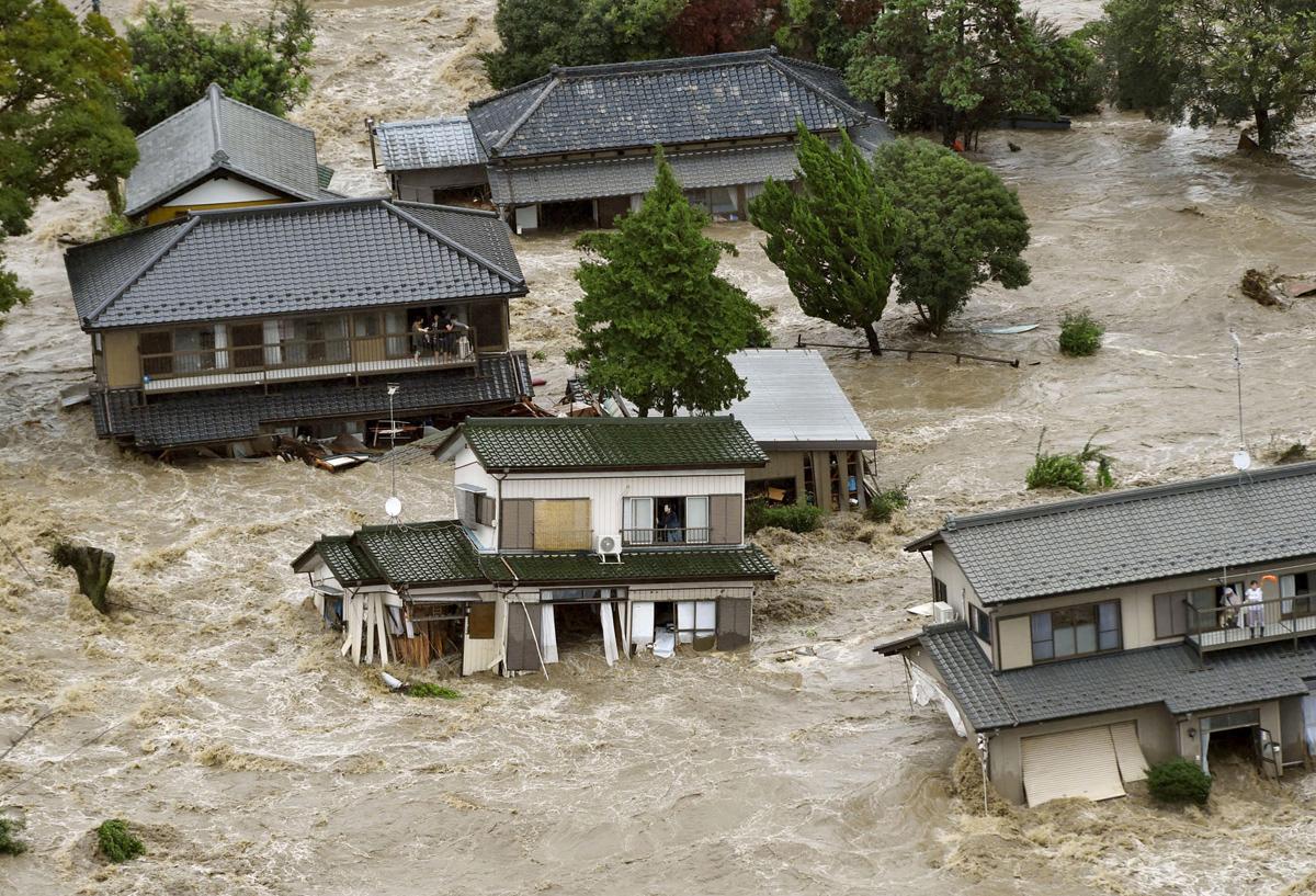 Typhoon Etau Triggers Flooding in Japan - The Atlantic