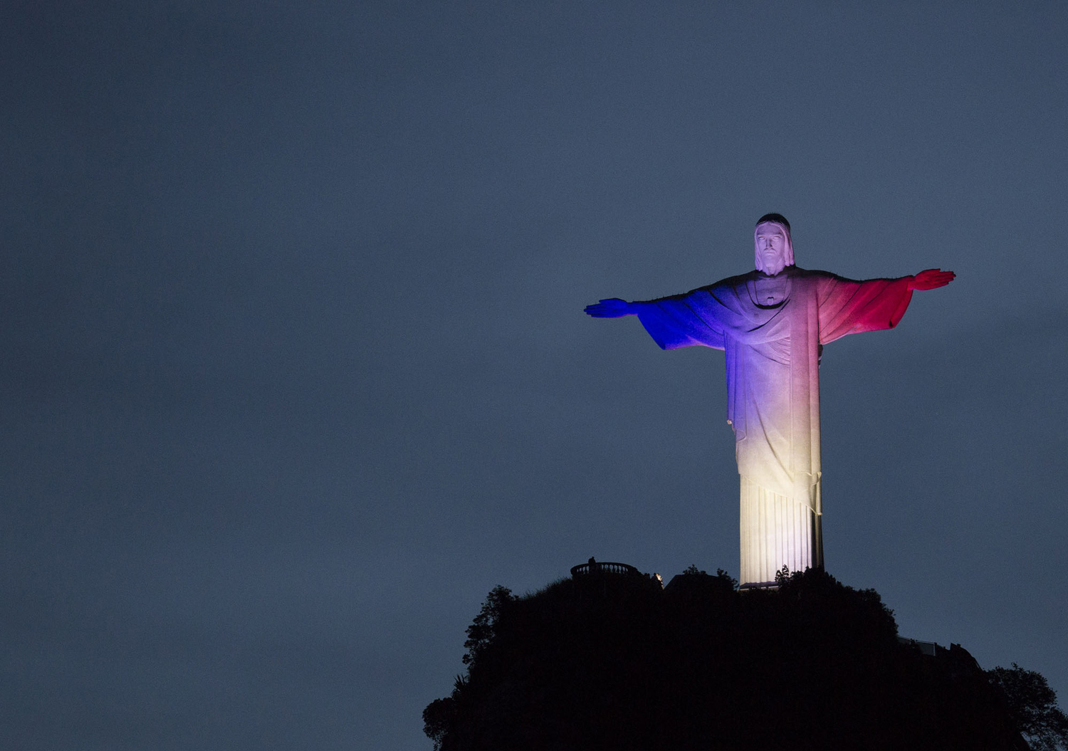 monuments around the world light up with the colors of the french