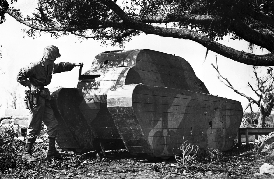 Bamboo Bombers and Stone Tanks—Japanese Decoys Used in World