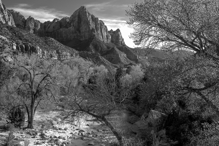 The watchman virgin river zion national park utah