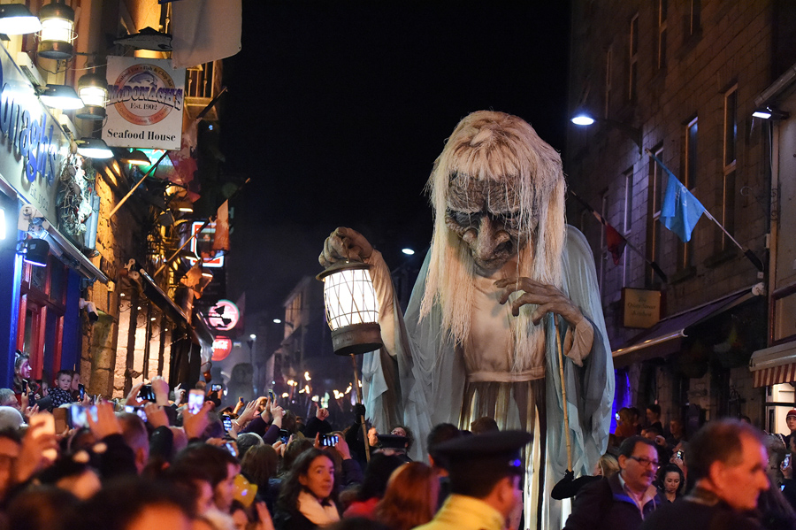Image result for halloween street decorations new york