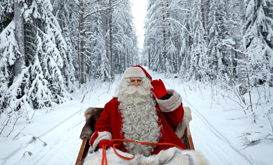 santa claus rides in his sleigh as he prepares for christmas in the arctic circle near rovaniemi finland on december 15 2016 - Santa Claus Santa Claus Santa Claus