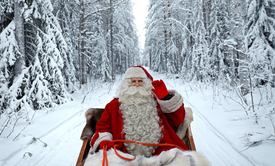 santa claus rides in his sleigh as he prepares for christmas in the arctic circle near rovaniemi finland on december 15 2016 - Santa Santa Claus