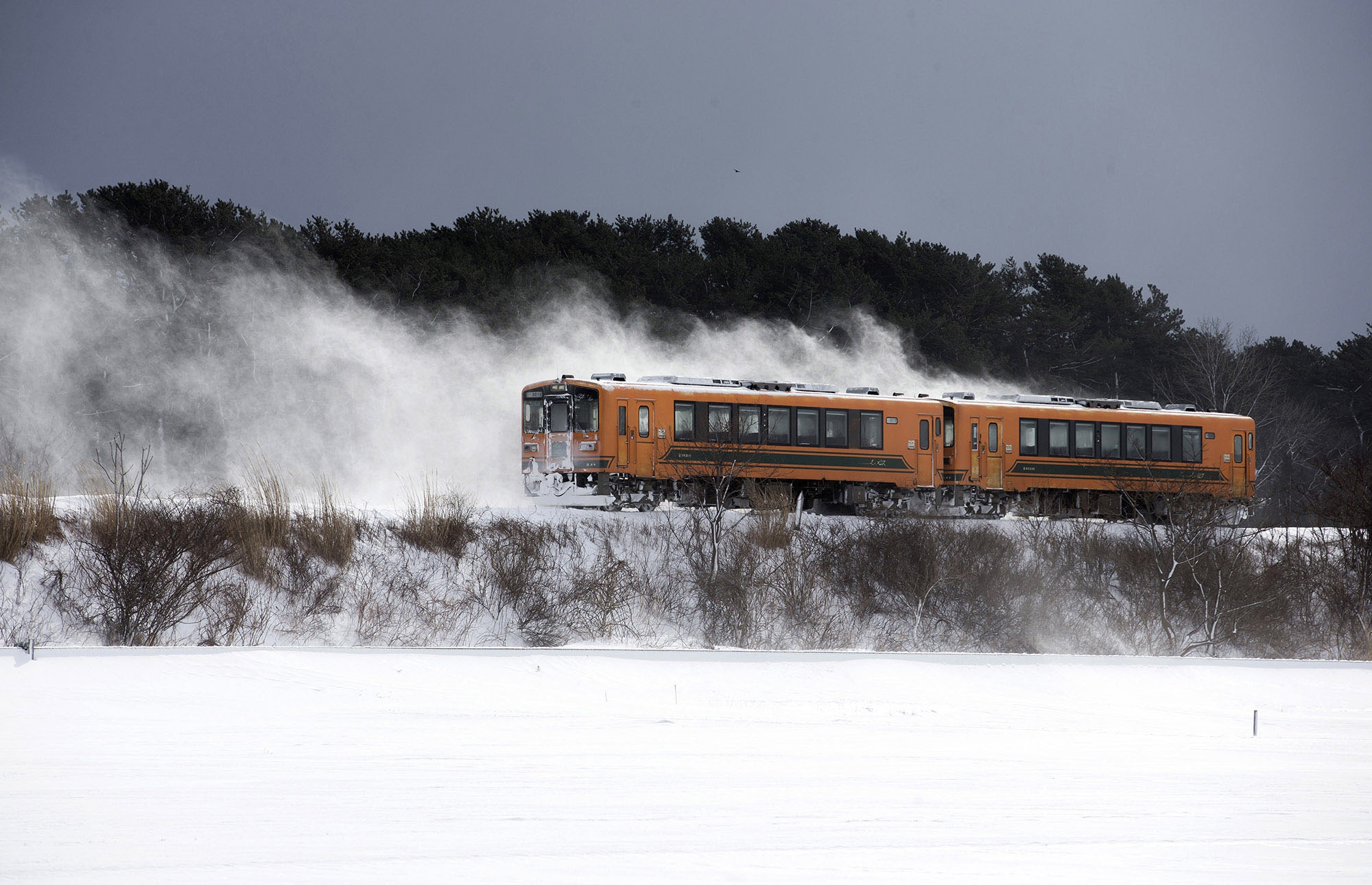A Wintry Ride in a Japanese Potbelly Stove Train - The Atlantic