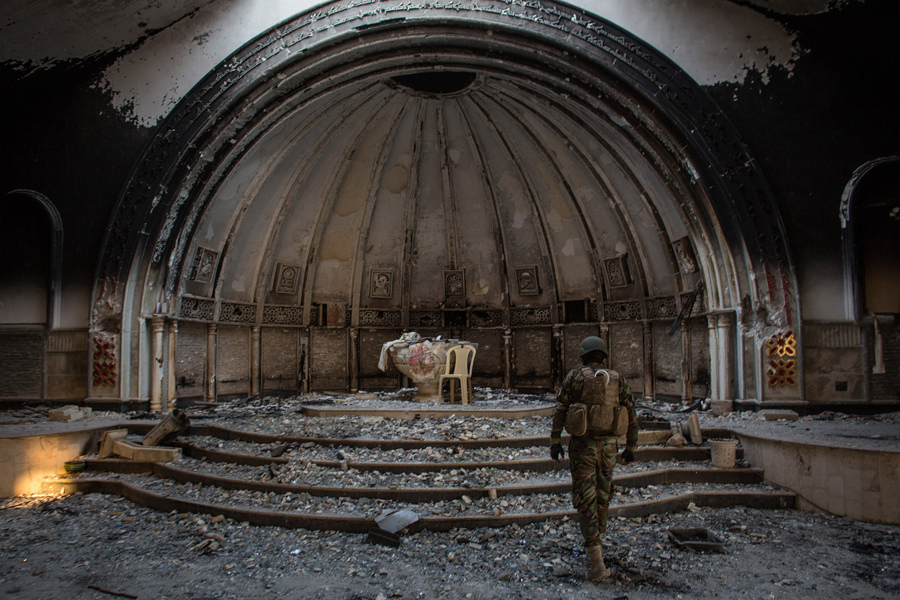 Image result for ruined church iraq