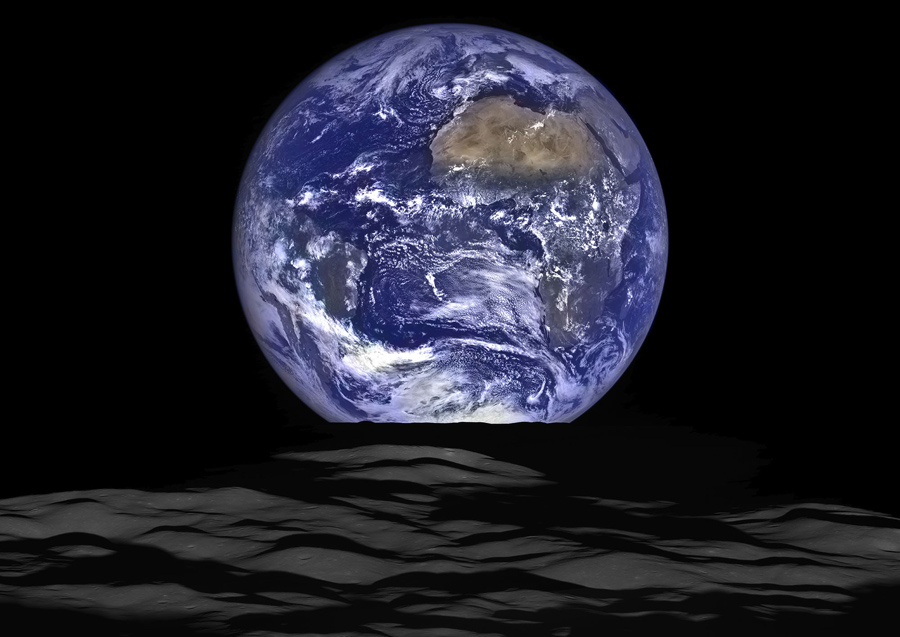 portraits of the earth moon system the atlantic
