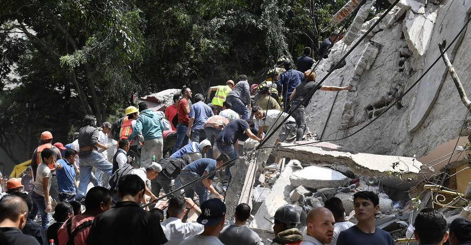 Photos of the Earthquake in Mexico City
