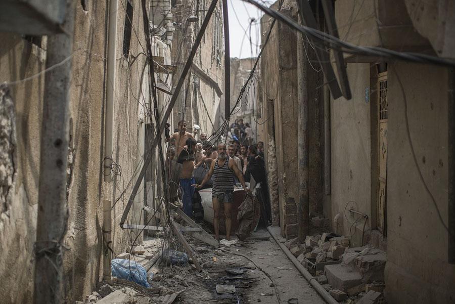 Civilians escaping Mosul, Iraq again Felipe Dana / AP