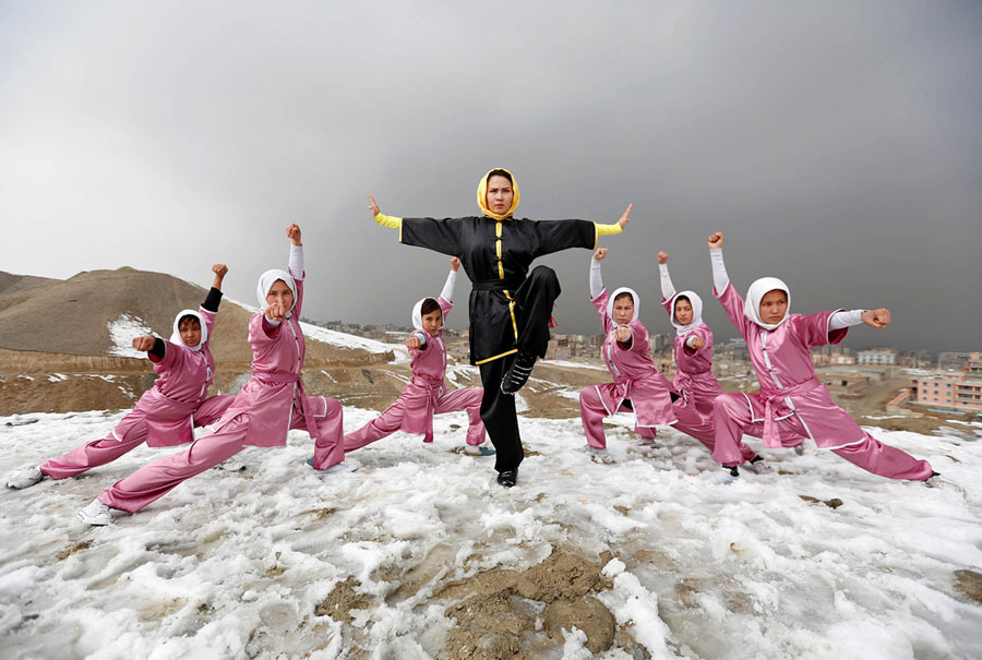 Love this...Teaching girls in Kabul self-defense by Mohammad Ismail / Reuters