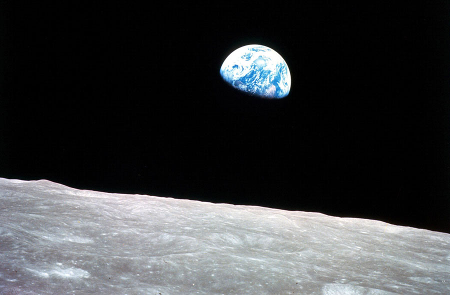Apollo 8, the first manned mission to the moon, entered lunar orbit on Christmas Eve, December 24, 1968 NASA