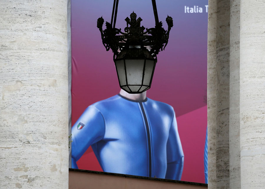 356ebda5a8ed A poster depicting an Italian athlete that had competed during the  Pyeongchang Winter Olympic games is seen framed by columns outside Saint  Peter s Square ...