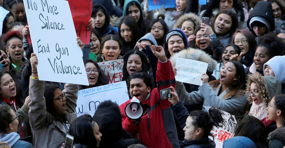 School Walkout Against Gun Violence: In Photos