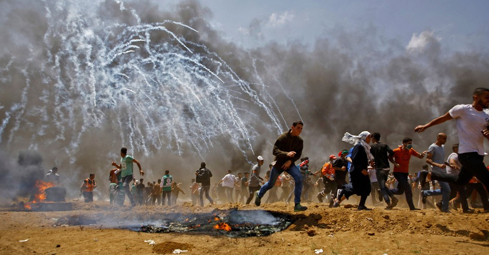 In Photos: Chaos and Bloodshed in Gaza