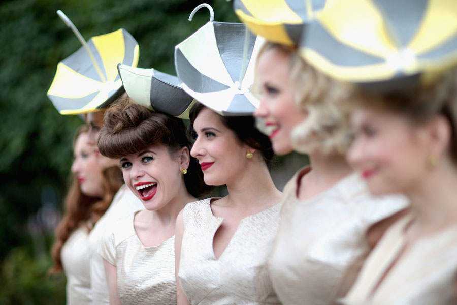 The Tootsie Rollers pose for a photograph on the second day of the Royal  Ascot 0cb697d5d5d