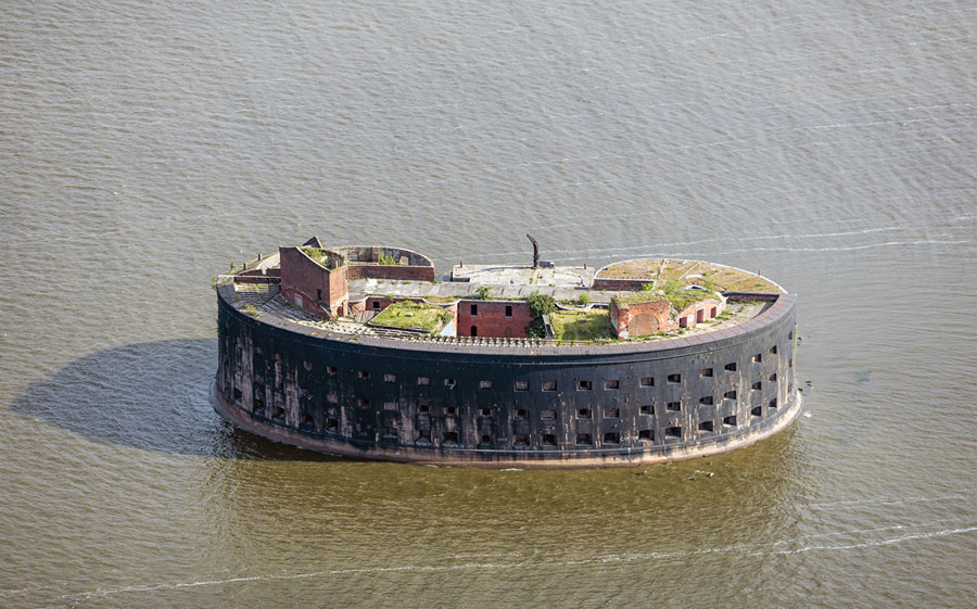 Fort Alexander I, one of the fortresses adjacent to Kronstadt, Saint Petersburg, Russia