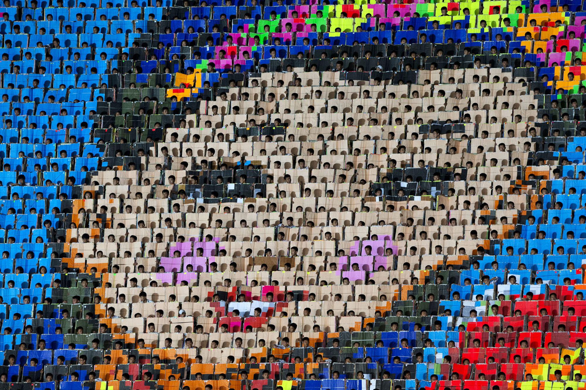 Image result for north korean human mosaic
