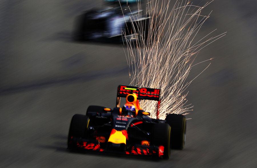 Sparks Fly on F1 Racetracks