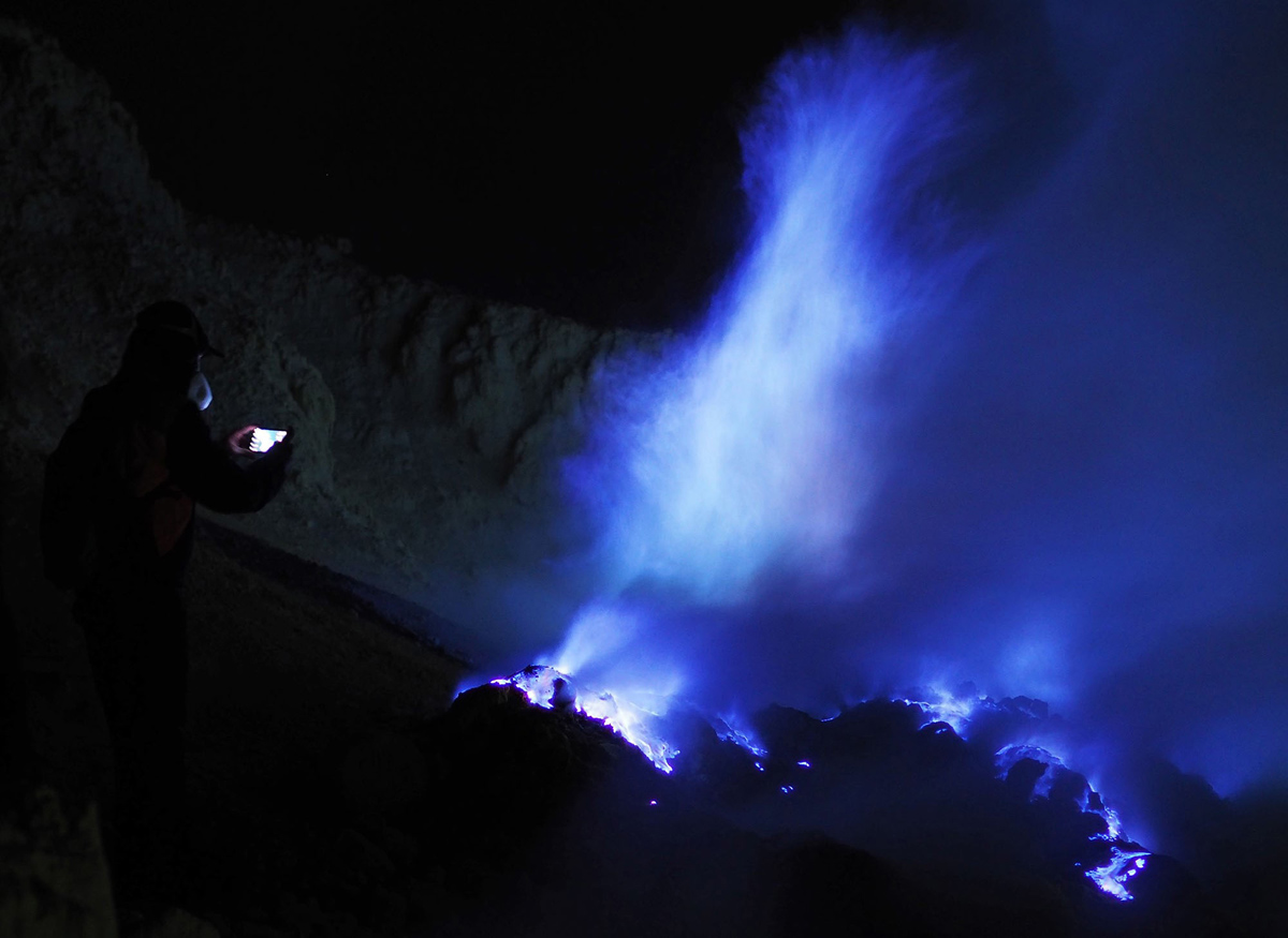 lava gunung Ijen