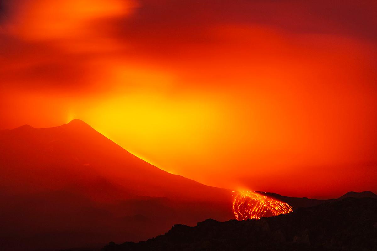 gunung api Italia