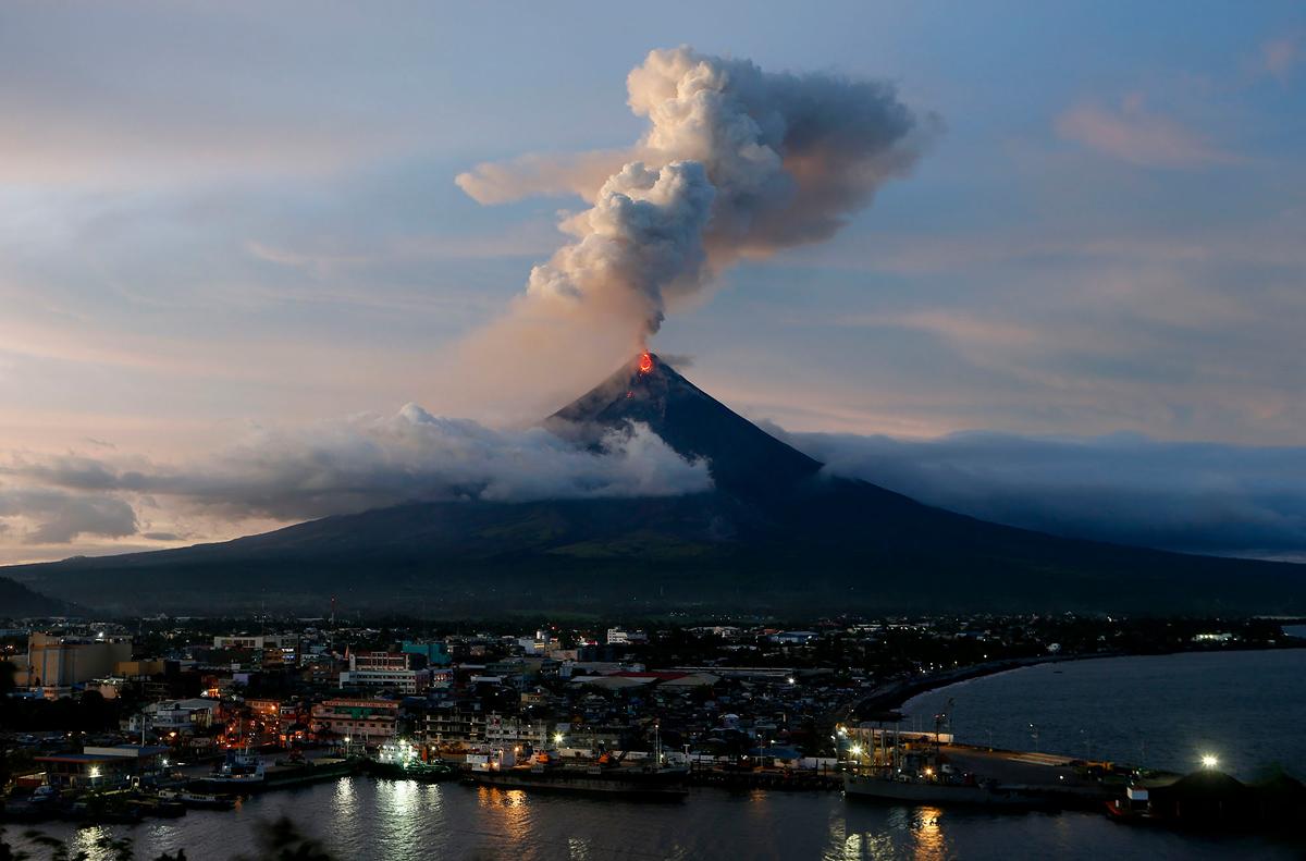 gunung api philipina