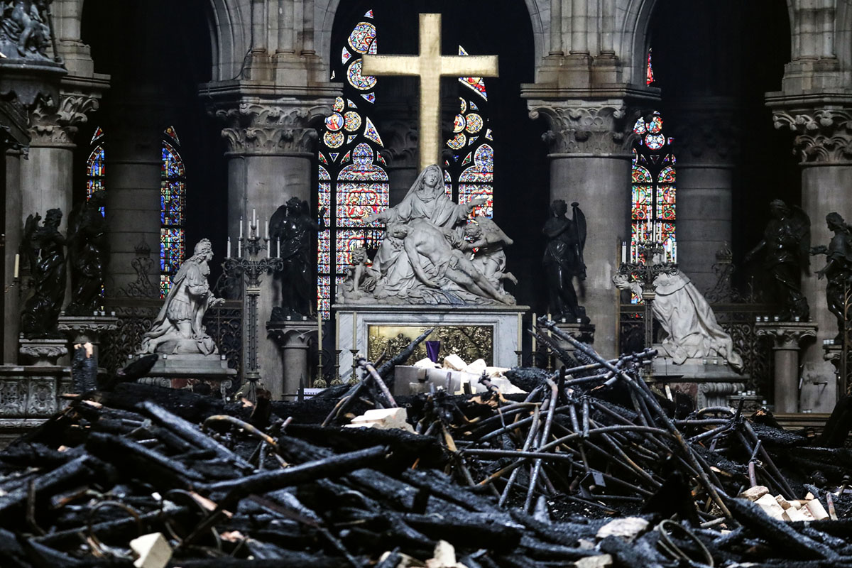 After the Fire: Photos From Inside Notre-Dame Cathedral (9 photos)