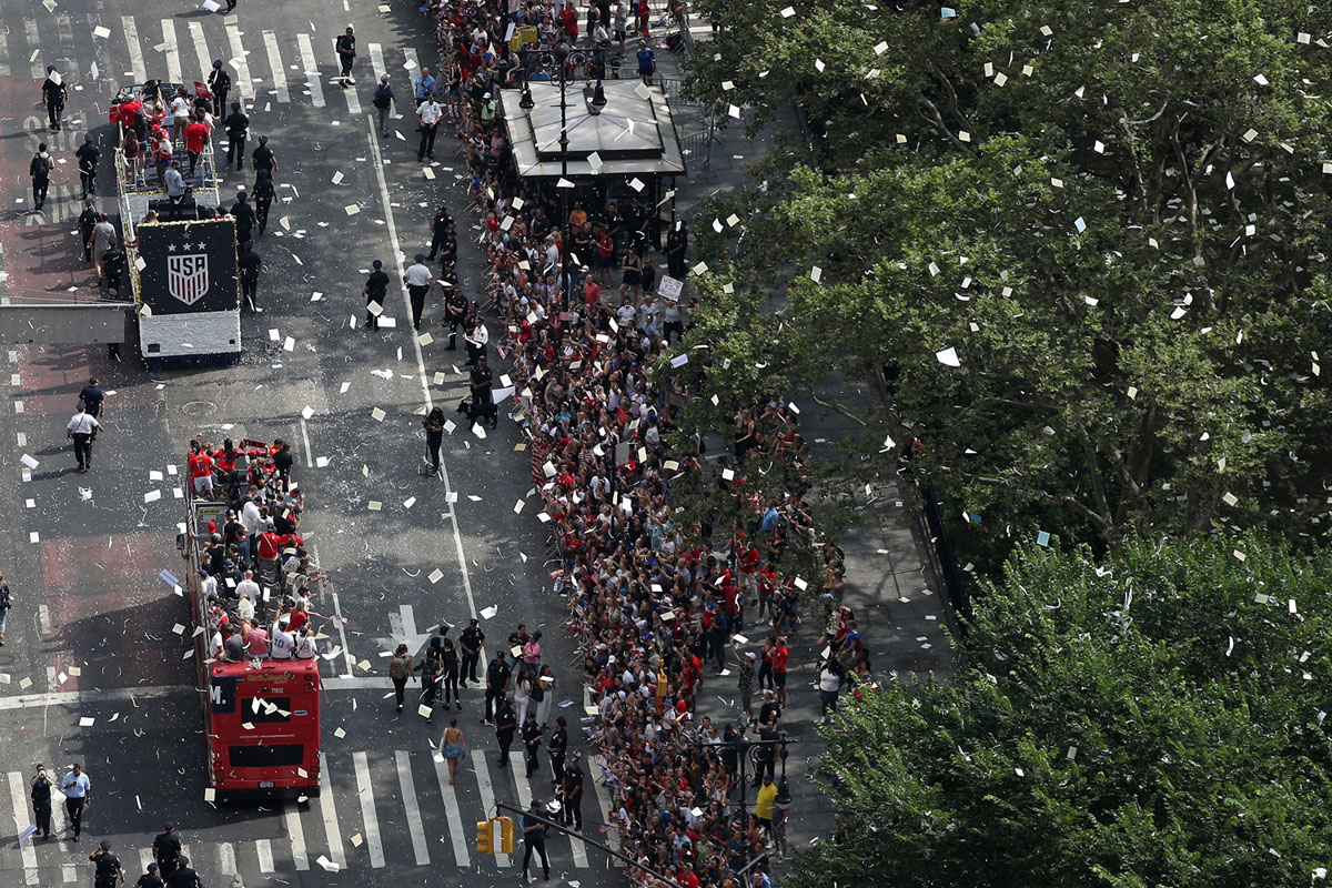 Photos of the 2019 Women's World Cup Champions Victory Ticker-Tape Parade (25 photos)
