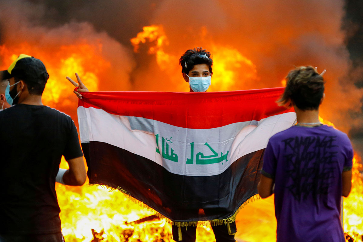 A Month of Anti-Government Protests in Iraq (28 photos)
