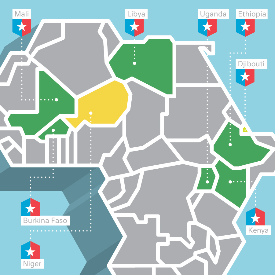 The New Terrorist Training Ground The Atlantic - Us military bases in africa map
