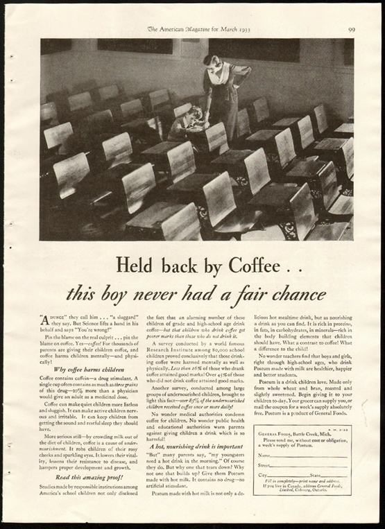 The Devious Ad Campaign That Convinced America Coffee Was Bad For Kids The Atlantic