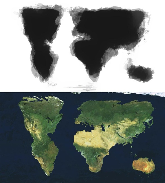 What You Get When 30 People Draw a World Map From Memory ...