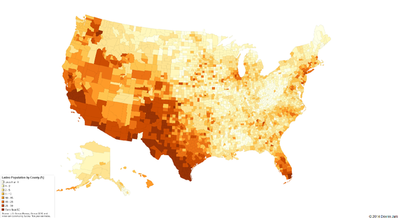 The 5 U.S. Counties Where Racial Diversity Is Highest—and Lowest United States Potion Density Map on