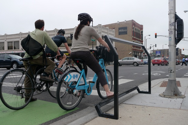 The Curbee Invites Cyclists to Rest at Red Lights - CityLab