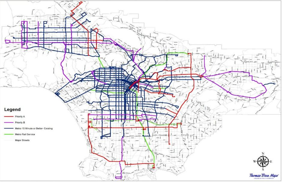 los angeles considering improved bus network at no cost efficientgov