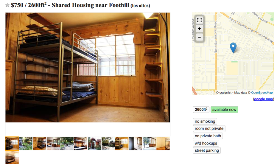 San Francisco s Bunk Bed Craigslist Ads Show the Depth of