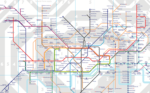 An Accurate London Underground Tube Map Is A Confusing Mess