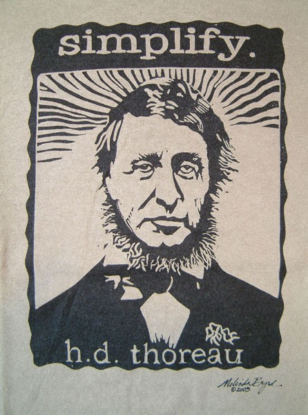 simplicity thoreau essay On independence day, 1845, a few days before his twenty-eighth birthday, henry thoreau left his town of concord and went to live alone in the woods, on the.