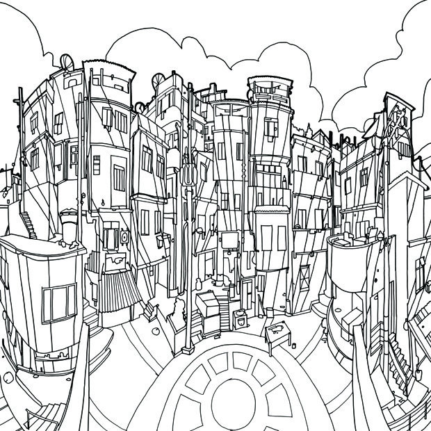 Fantastic Structures Is A Coloring Book For Grown Ups