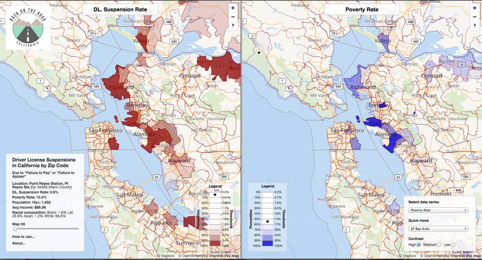 Mapping California S Racial Bias In Sentencing Traffic Violations
