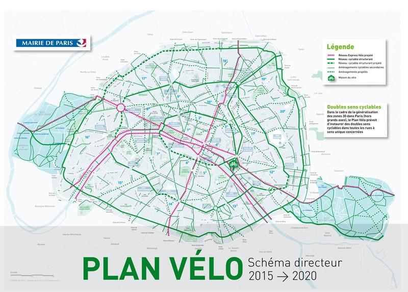 2020年將完成的單車網路。圖片來源:City Lab。