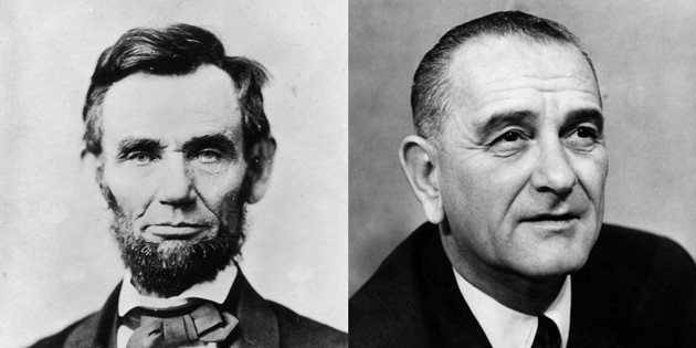The Atlantic has endorsed only three presidential candidates in 159 years. Abraham Lincoln (1860) and Lyndon B. Johnson (1964) were the first two. (Alexander Gardner / Getty; ullstein bild / Getty)