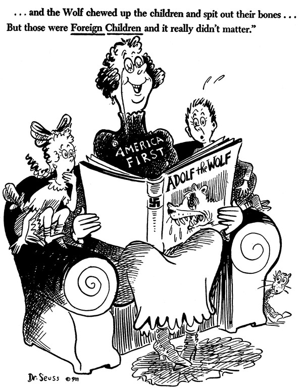 The Complicated Relevance of Dr  Seuss's Political Cartoons