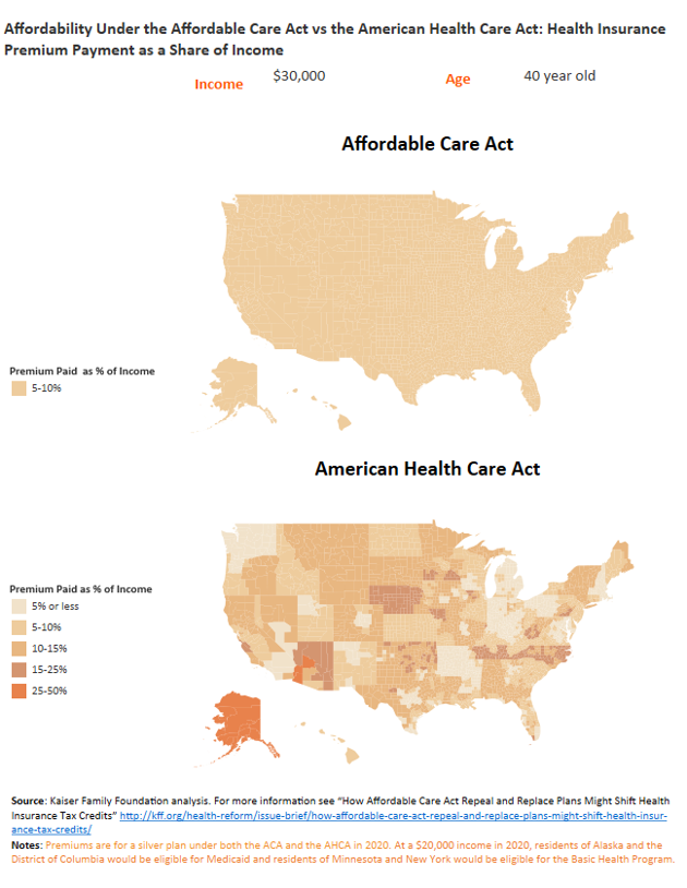 Where's the Best Place to Live Under the American Health Care Act?