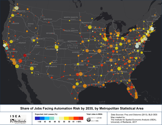 The Parts of America Most Susceptible to Automation
